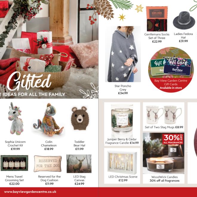 inside spread of christmas mailer