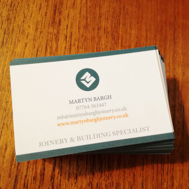 Martyn Bargh Joinery Business Cards